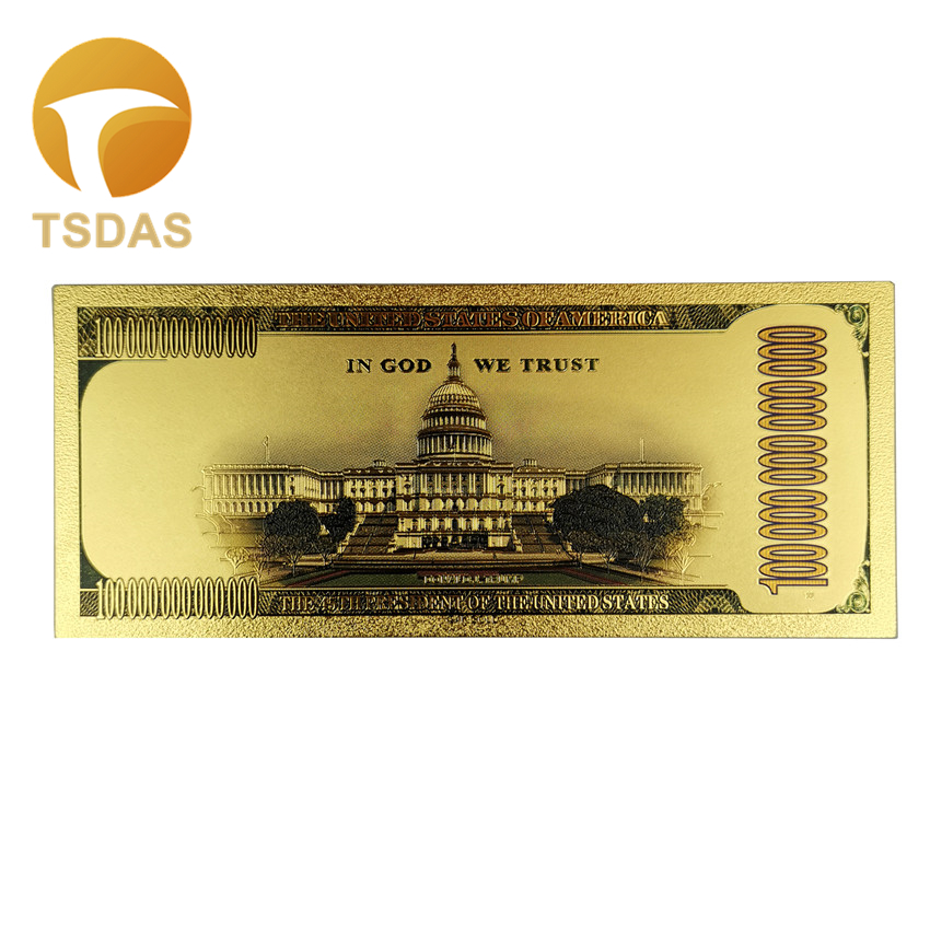 10 President Donald Trump Gold Plated Bookmark Novelty Dollars Bill Banknote
