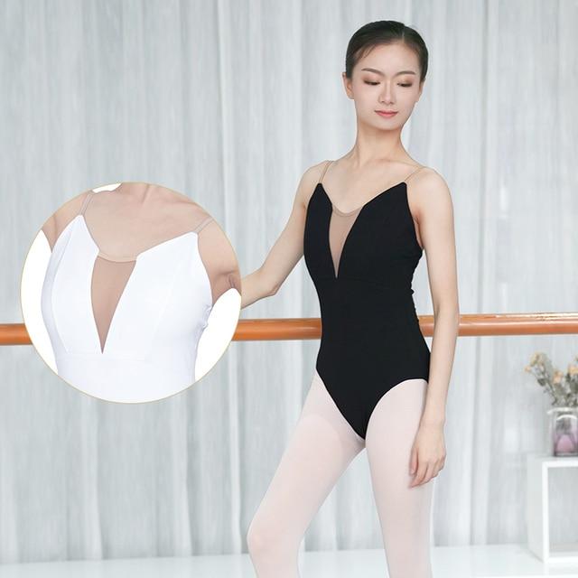 Women Girls Sexy Black White Ballet Dance Leotard Camisole Gymnastics Leotards Adults Bodysuit Swimsuit S,M, L,XL,XXL For Women