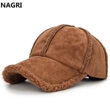 Зимняя утолщенная теплая бейсбольная кепка Bone для мужчин, шерстяная овчина, однотонная бейсболка для папы, кепка, бейсболка, регулируемая одежда, Черная кепка