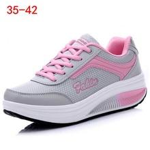 Women Sneakers Plus size 35-42 Lace Up Canvas Shoes Black Ca