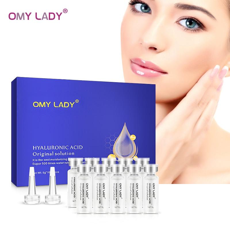 OMY SENHORA 10pcs solução de soro facial anti-envelhecimento Ácido Hialurônico Original profunda hidratação anti-rugas cuidados com a pele rosto essência