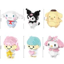 hot LegoINGlys creators Cinnamoroll kuromi Pom Purin melody micro diamond building blocks animal figure nano brick toys gift