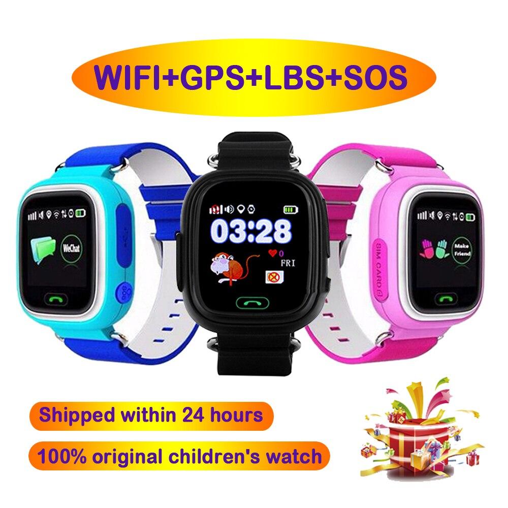 Смарт-часы Q90, Детские Смарт-часы для детей с функцией SOS, звонков, GPS, Wi-Fi, трекером местоположения, монитором и напоминанием о потере, Смарт-ча...