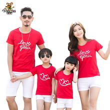 Family Clothing 2020 Summer Love Short-sleeve T-shirt Matching Family Clothing Outfits For Mother Daughter And Father Son family clothing 2020 summer cartoon short sleeve t shirt family matching outfits for mother daughter and father son clothes