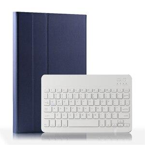 Image 1 - Capa para teclado para xiaomi mi pad 4 plus, capa de tablet com suporte removível, couro pu de 10 polegadas teclado blutooth