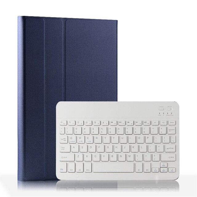 Capa para teclado para xiaomi mi pad 4 plus, capa de tablet com suporte removível, couro pu de 10 polegadas teclado blutooth