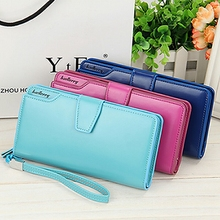 Women  Wallet Long Multi-Function Ladys Purse Zipper Buckle Hand Bag Large Capacity Card PU Fashion Multi-Slot