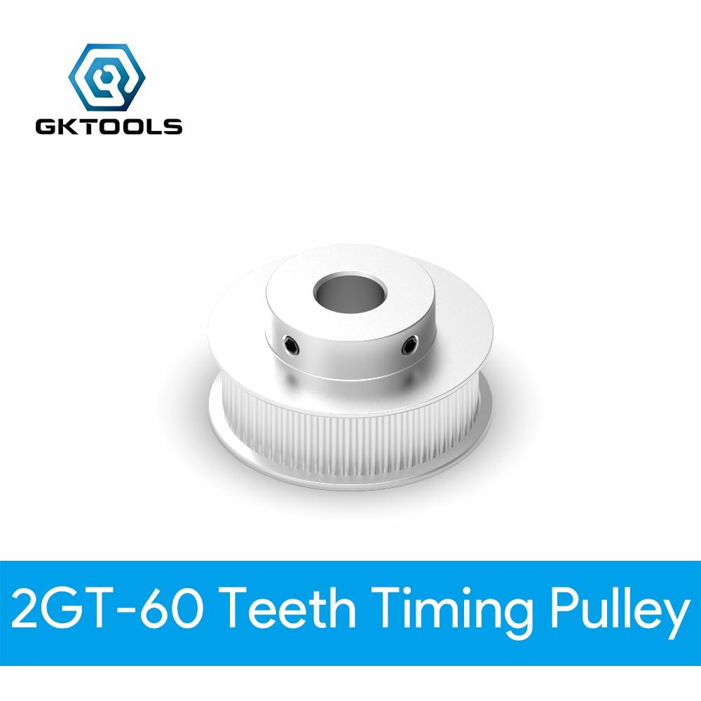GKTOOLS GT2 зубчатый шкив 2GT 60 Зубы диаметр 5/6/6.35/8/10/12/14/15 мм синхронный колеса Ширина 6/9/10/15 мм ремень 3D-принтеры Запчасти