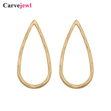 Carvejewl stud earrings big tear drop bumpy circle shape for women jewelry plastic post anti allergy hot