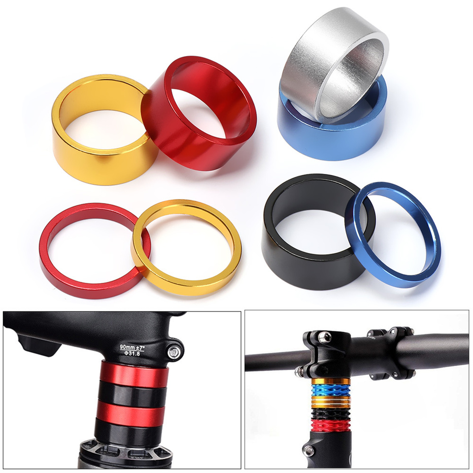 Aluminum Alloy Headset Stem Spacer Fork Washer Cap For Road Bike Accessories
