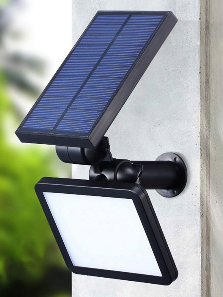 Power-Lamp Lighting Wall Leds Solar Outdoor Garden Yard 48 for Adustable Angle-280lm