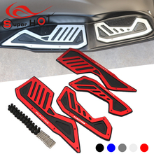Motorcycle Accessoires Front Rear Footrest Pedal Footboard Steps Foot Plate For Yamaha NMAX155 NMAX 155 N-MAX155 N MAX 155