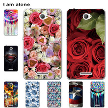 Phone Cases For Sony Xperia E4 2015 5.0 inch Hard Plastic Mobile Bags Cartoon Printed For Sony Xperia E4 Cover Free Shipping(China)