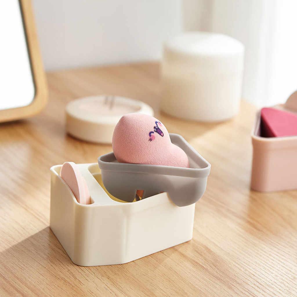 แบบพกพา Breathable ผ้าฝ้ายแต่งหน้ากล่องเก็บกรอบความงามไข่บ้านห้องน้ำกล่องเก็บ ^ 40