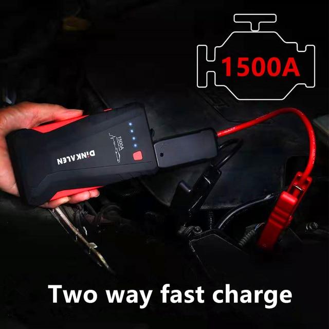 GKFLY, dispositivo de arranque de alta potencia 1500A, arrancador de batería de coche portátil de 12V, cargador de coche para coche, batería Booster Buster LED