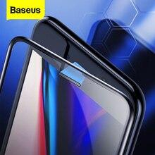 Baseus 0.3ミリメートル防塵スクリーンプロテクター強化ガラス8 7 6 6sプラス7プラス8プラスフルカバー保護ガラスフィルム