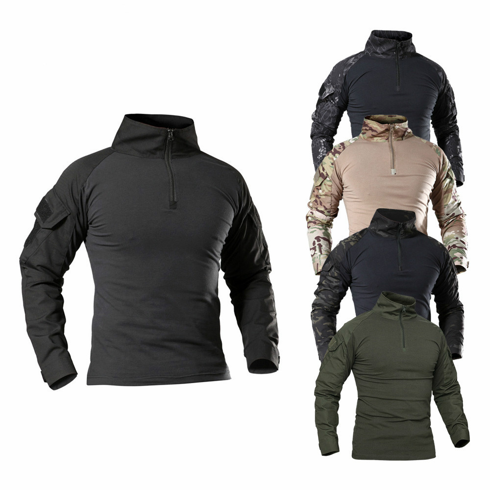 High Quality Outdoor Tactical T-shirt Men Combat Shirt Airsoft Paintball Military Army Shirts Uniform Hiking Hunting Shirt