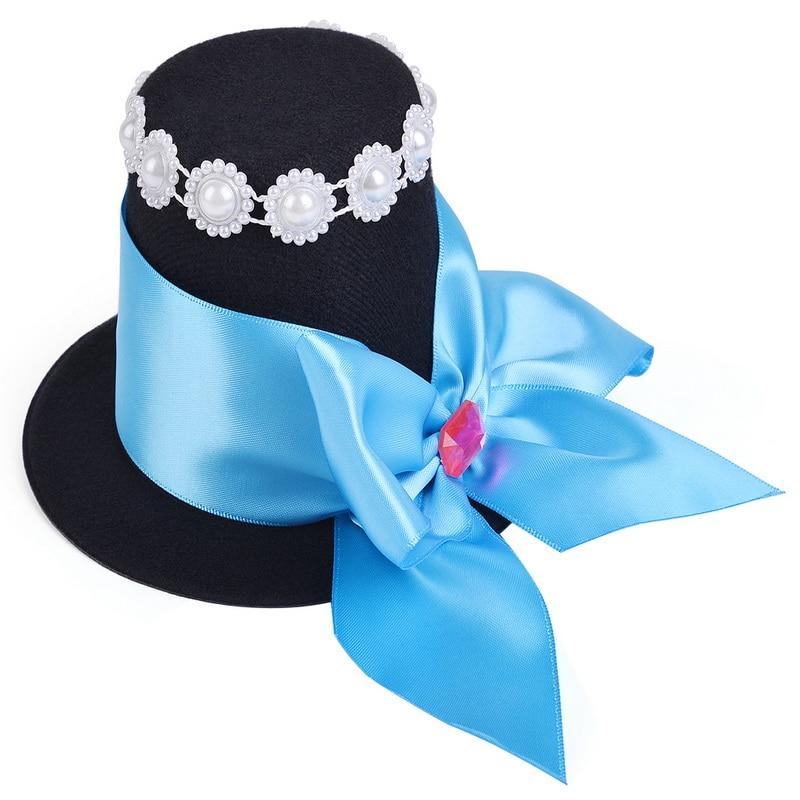 Купить с кэшбэком Girls Princess Alice Costumes With Hat Girl Tutu Dress Baby Girls Birthday Cosplay Costume Kids Halloween Holidays Clothes 2-12Y