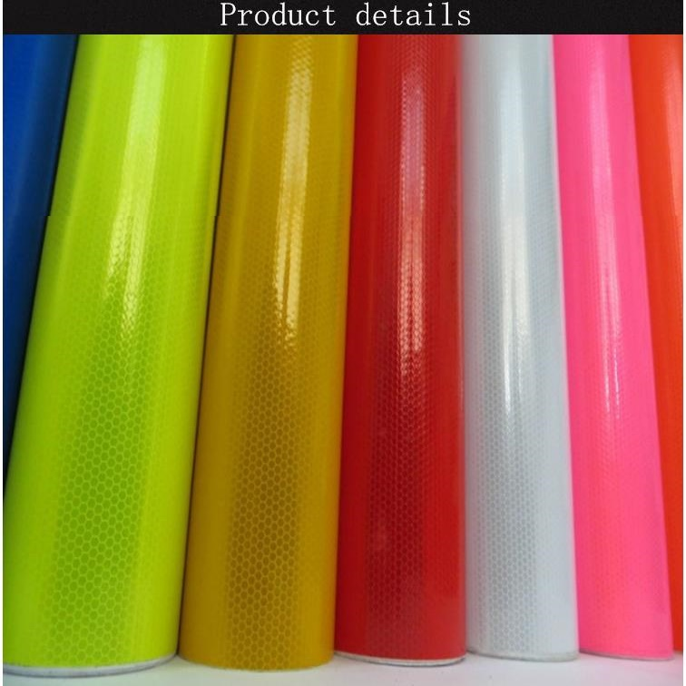 Advertising Print Film PVC Microprism Engineering Reflective Sheeting Self-adhesive Road Traffic Sign Material