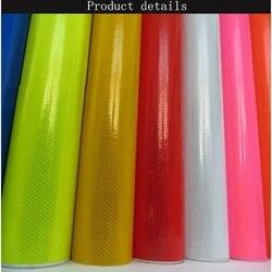 Pubblicità Stampa Pellicola IN PVC Microprism Ingegneria Rivestimento Riflettente Auto-adesivo Traffico Stradale Segno Materiale