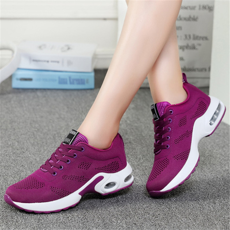 NEW Shoes Woman White Sneakers Tenis Feminino Zapatillas Mujer Casual Women Air Cushion Platform Shoes Scarpe Donna Size 35-42