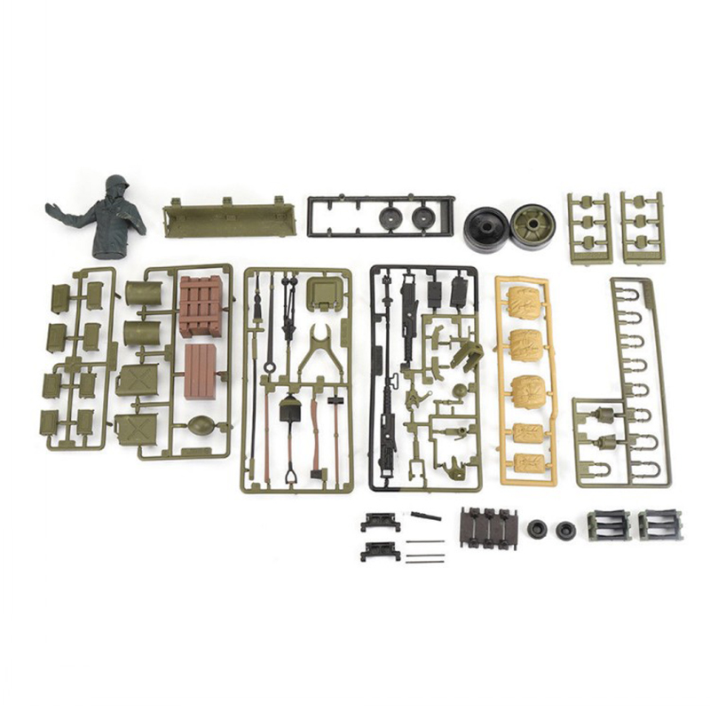 FBIL-for 1/16 Henglong Tank 3898-1 USA Sherman M4A3 RC Tank Plastic Soldier Accessories Parts Bag