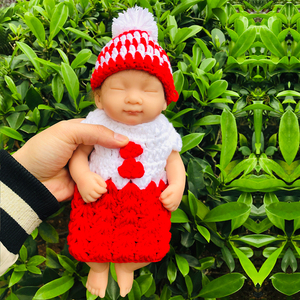 10inch real solid silicone reborn baby doll Lifelike Boutique Mini Doll Bebes Reborn Babies Toys Bath Playmate Gift(China)