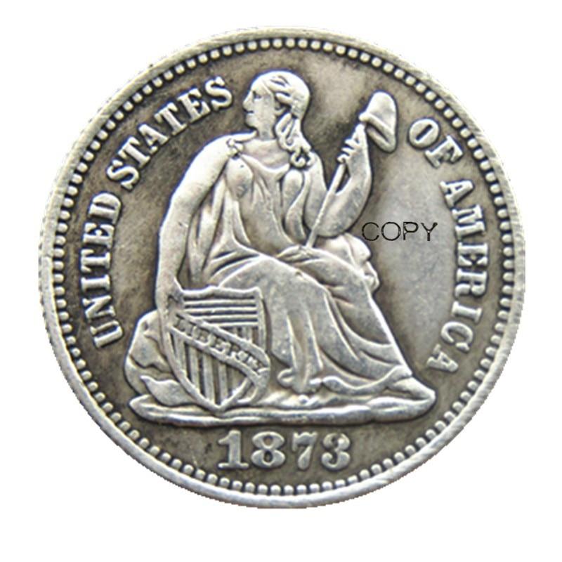USA 1873P/S(Mintmark Below) Liberty Seated Half Dime Legend Obverse Copy Coins