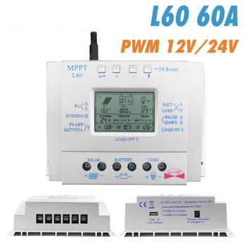 MPPT 60A 80A Solar Charge Controller 12V 24V Regulador Solar for Max 48V Input Solar Photovoltaic System Charging USB 5V Output 2
