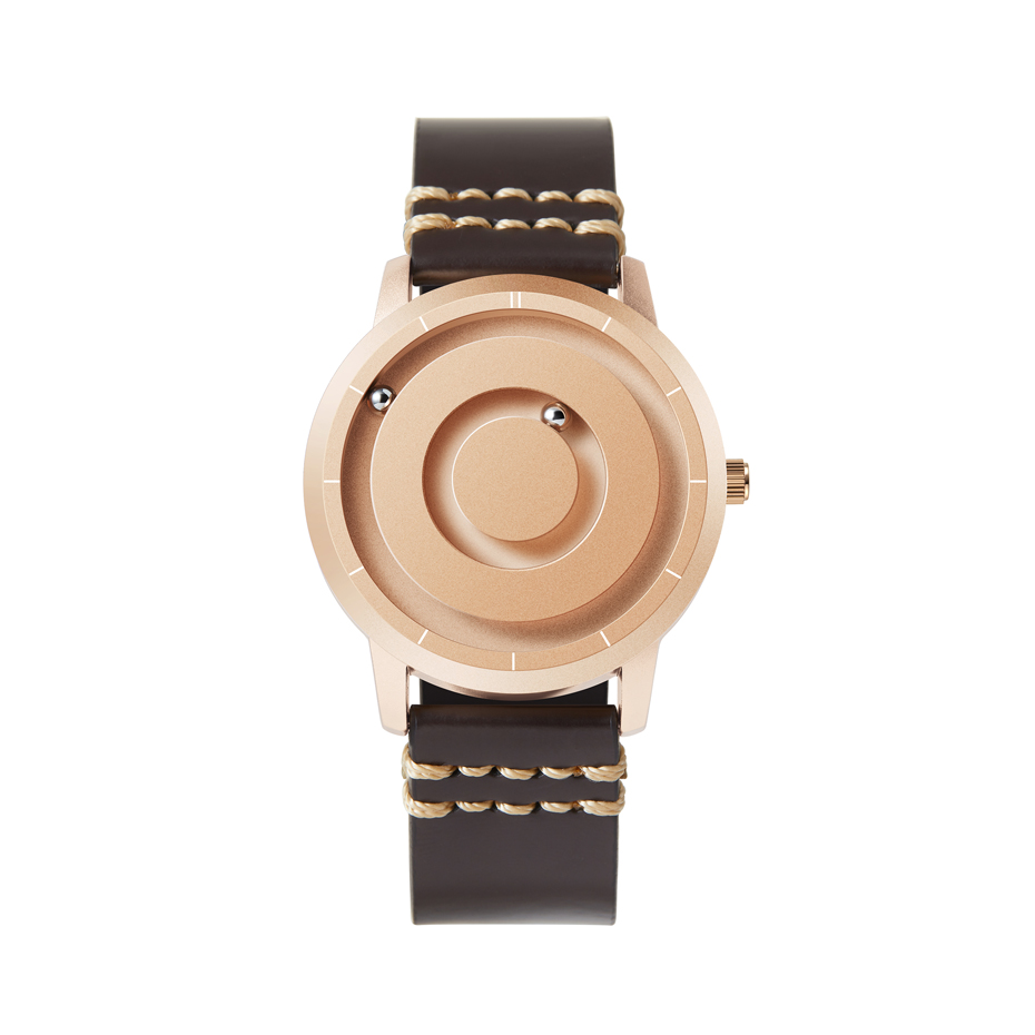 EUTOUR New Innovative Blue Gold Magnetic Metal Multifunctional Watch Men's Fashion Sports Quartz Watch Simple Men's Watch 17