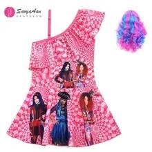 2020 Kids descendant mal Costume Cosplay Robe fantaisie cadeau 4pcs Tenues Ensemble Lot