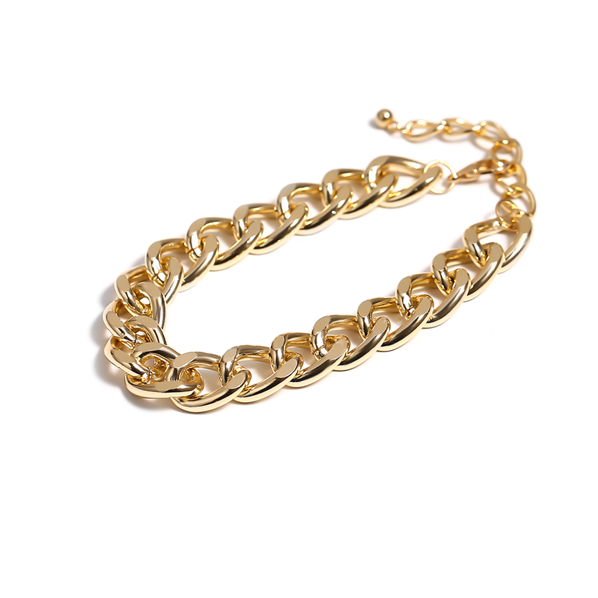 Lacteo Punk Thick Chunky Chain Anklet for Women Statment Fashion Anklet Hip Hop Golden Cross Chain Charm Anklet Female Jewelry 4