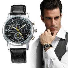 Belt Watch Quartz Men's Ultra-Thin New Business Z3D7 Three-Eye Popular Simple