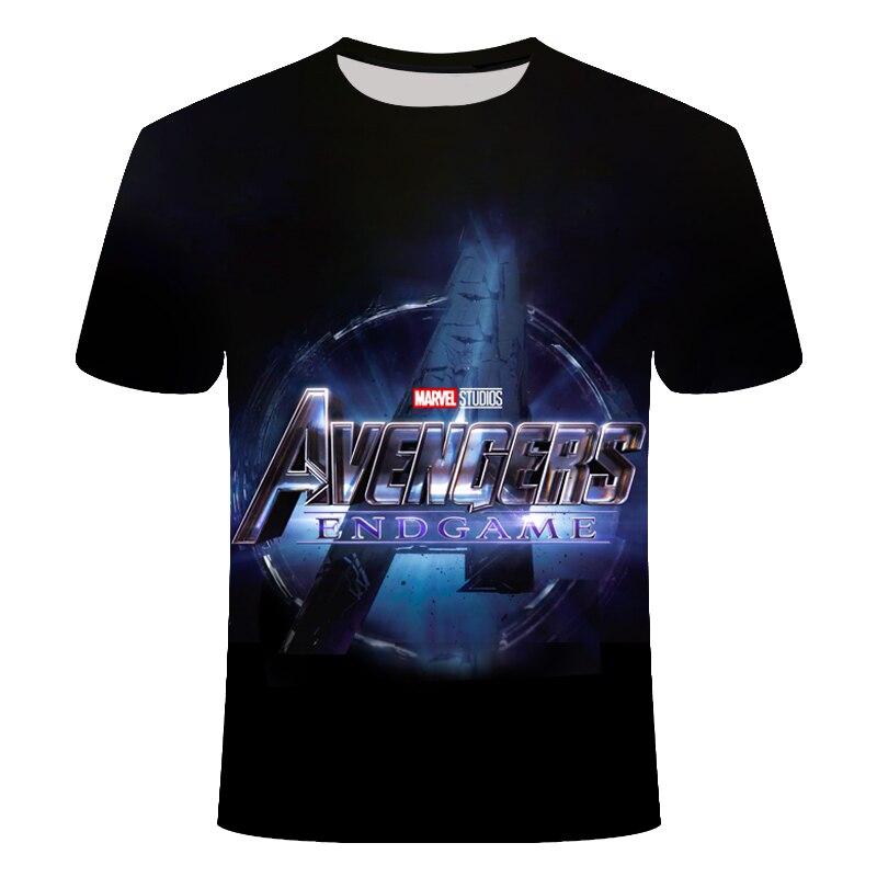 Новинка, футболка Marvel Avengers 4 final, футболка с 3d принтом супергероя Америки, футболка для косплея, Мужская Новая летняя модная футболка