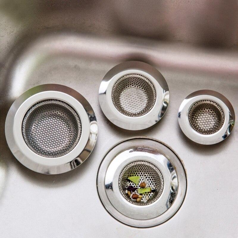 Anti-Clogging Kitchen Sink Strainer Kitchen Sink Filter Stainless Steel Sink Disposal Stopper Perforated Basket Drains Sieve ZA