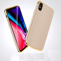Grande capacidade de caso powerbank Para Apple iphone X XS XR XS Max caso de carregamento Da Bateria caso carregador de bateria batterie externe cobrir|Estojos p/ carregador de bateria|Telefonia e Comunicação -