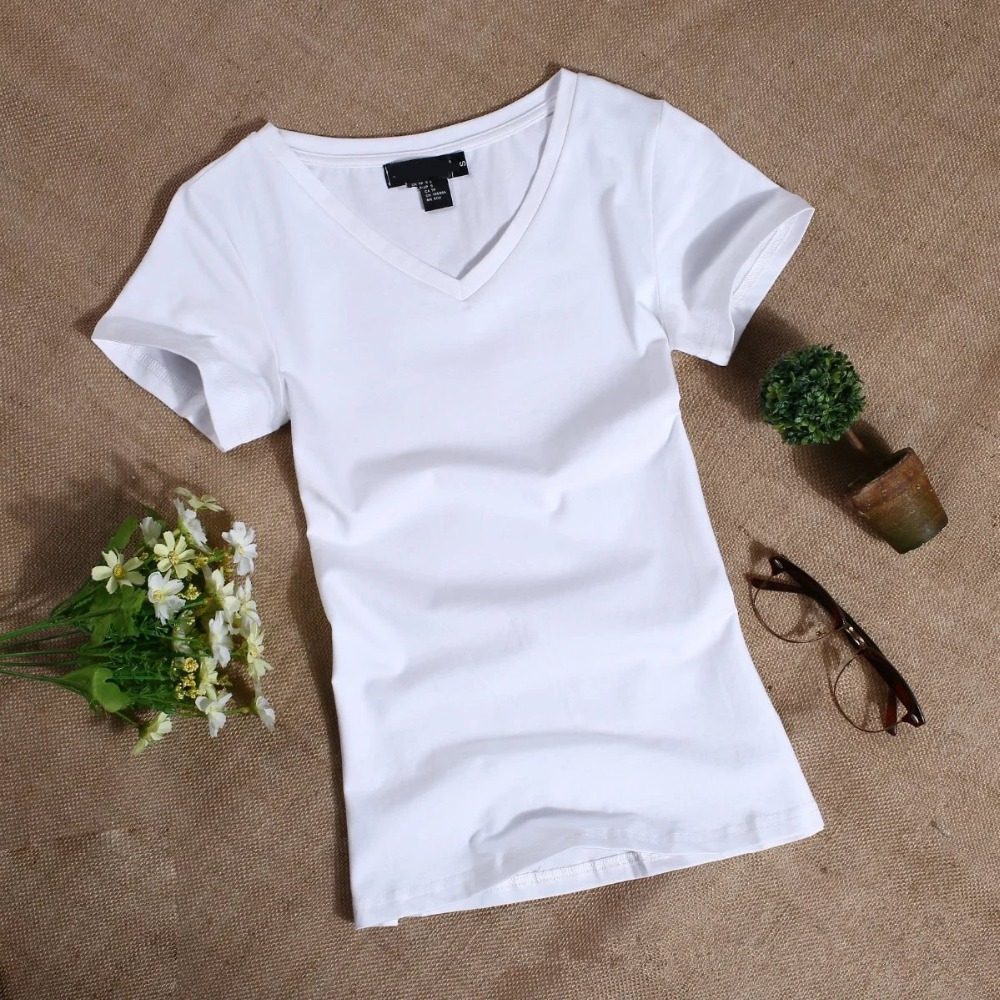 MRMT 2019 Women's T Shirt Women Short Sleeved Slim Solid Color Simple Pure Tee Womens T-Shirt For Female Women T Shirts