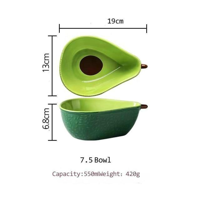 Купить креативная тарелка авокадо керамическая для завтрака миска супа картинки цена