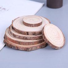 10pcs Natural Pine Round Unfinished Wood Slices Wooden Circles With Tree Bark Log Discs DIY Crafts Wedding Party Painting Decor 3 4 6 9 12 15 grids wooden essential oil natural pine wood aromatherapy boxes 5 15ml for home decor handmade crafts