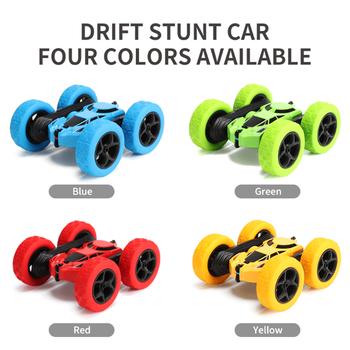 RC Stunt Car 2.4G 4CH Drift Deformation Buggy Roll Car 360 Degree Rotating Double Sided Flip Vehicle Toy For Boys Girls Gift