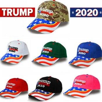 New President Donald Trump 2020 Hat USA Flag Star Camouflage Baseball Cap Men Women Cotton Hip Hop Caps Snapback Hats