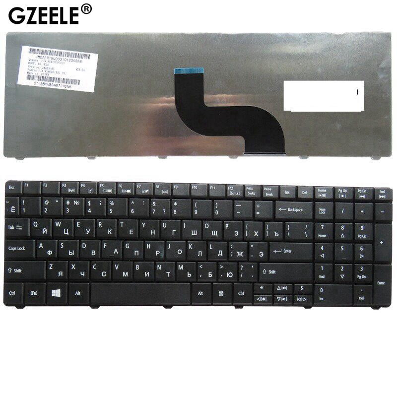GZEELE New RU Laptop Keyboard FOR Acer Aspire E1-571G E1-531 E1-531G E1 521 531 571 E1-521 E1-571 E1-521G Black Russian