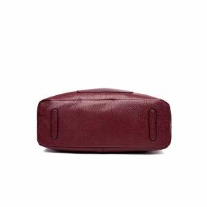 Image 4 - 2/S 女性レザーハンドバッグ高品質の財布やハンドバッグ 2019 女性ソフトレザーショルダーバッグメイントートバッグ女性