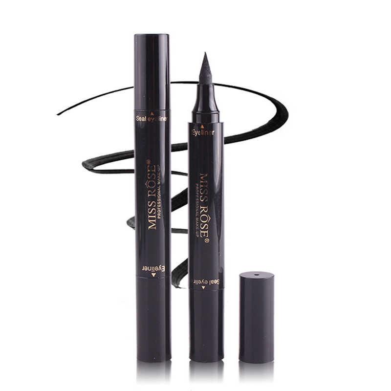 MISS ROSE noir Eyeliner marqueur crayon Double-fini séchage rapide étanche liquide yeux Liner stylo Maquiagem professionnel TSLM2