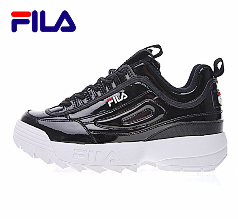 2018 Fila Disruptor II 2 Generations Women Sneaker Of Large Sawtooth Thick Raised Legs Wild Jogging Black White Red Shoes