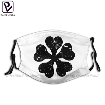 Leaf Mouth Face Mask Black Clover Anime Facial Mask Cool Fashion for Adult with 2 Filters Mask helloween mouth face mask gamma arctica priest facial mask fashion cool with 2 filters for adult