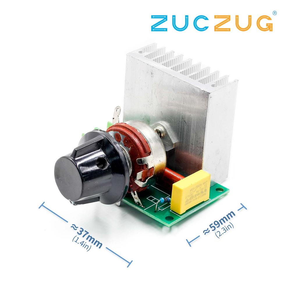 1pcs Imported 3800W SCR High-power electronic regulator, dimmer, speed, thermostat wholesale(China)