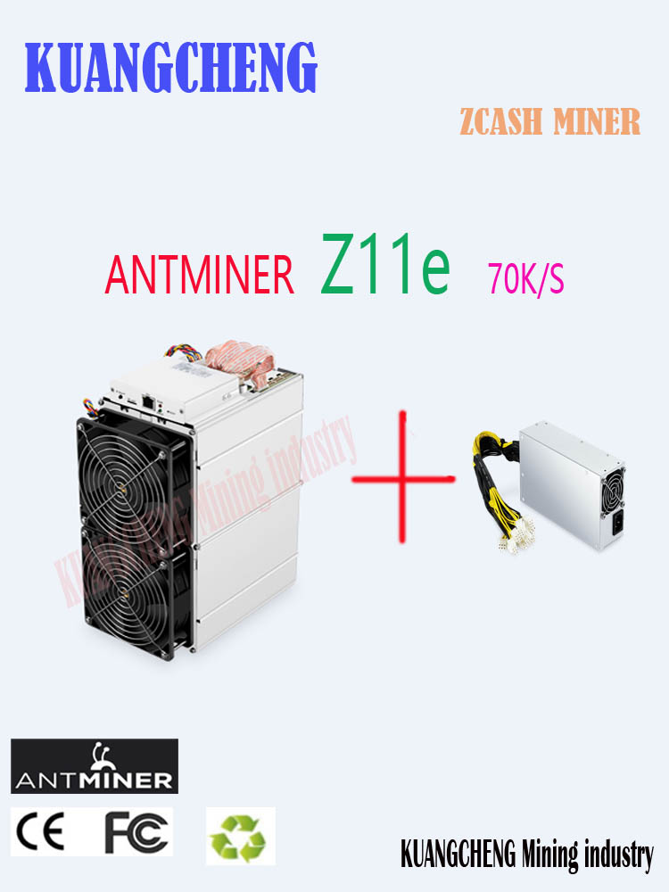 In Stock Antminer Z11e 70k Sol/s 1390W Asic Equihash ZCASH ZEC Miner Better Than Antminer S9 S11 S15 S17 Z9  Z11 Innosilicon A9