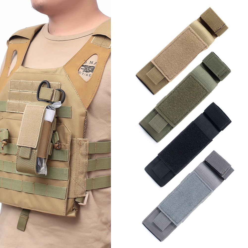 Tourniquet Storage Bag Nylon Flashlight Holster Medical Scissor Molle Pouch For Outdoor Sports Storage Holster Supplies