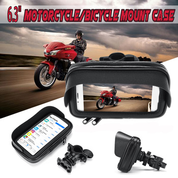 6.3 inch Waterproof Bike Bicycle Mobile Phone Holder Stand Motorcycle Handlebar Rearview Mount Bag Case For iphone for Samsung
